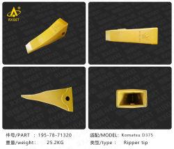 195-78-71320 de tand van de bak van de ripper van de stijl van Komatsu D375, de Reservedelen van de machine van de Bouw, de tanden van de bak van de graafmachine