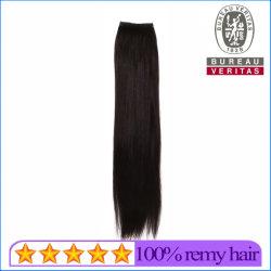 Capelli diritti di Remy di estensione dei capelli della piuma dei capelli umani di colore nero superiore del grado 18inch