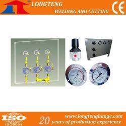 Panel del sistema de control de gas con manómetro regulador de gas y