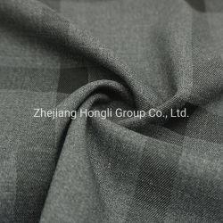 TR Span Stoff, Polyester, 68%T 28%R 4%Sp Check Stripe für Kleid Hltr20019