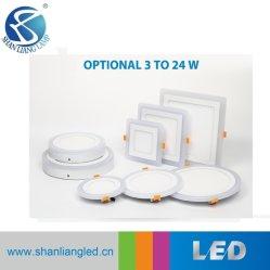 24W Redonda azul + luzes do painel de LED branca luz descendente de LED de luz de tecto