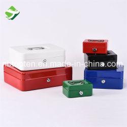 Alça portátil Caixa de caixa de fechadura de chave de metal com bandeja de moedas