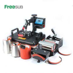 Combo 8 en 1 T-Shirt sublimación Prensa máquina de impresión de transferencia de calor para las ventas