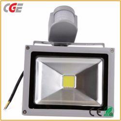 Сад света 10W/20W/30W/50W /100W датчик движения безопасности LED прожектора светодиодные прожекторы светодиоды высокой мощности освещения