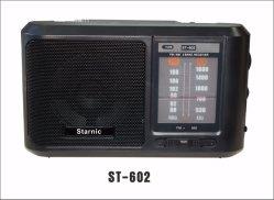 Radio AM FM portable par 2 pile AA avec 3,5 Jack pour casque de petite taille compacte pour la Chambre une coupure de courant (noir)