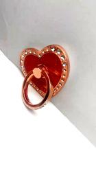 사랑 큰 빨간 다이아몬드에 의하여 개인화되는 전화 반지 버클