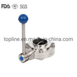 스테인리스 스틸 위생 맞대기 용접 버터플라이 밸브