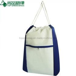 昇進のNonwovenドローストリングのバックパックのスポーツは移動のための鞍帯袋を袋に入れる