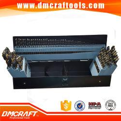 115 PCS Brocas HSS definido dentro da caixa de metal ou soprar a caixa plástica Empreiteiro Comprimento 1/64 a 1/2 1# para 60 A a Z, 115 PCS furar