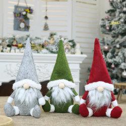 Santa artesanais Rag Doll Aniversário dom para o Natal em família recheadas macio Plush brinquedos para bebés