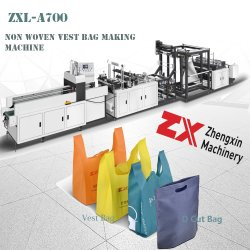 PPのTシャツ袋、Dの切口袋の作成のための生物分解性の環境に優しい非編まれた買物をするギフトのハンドル袋機械(ZXL-A700)
