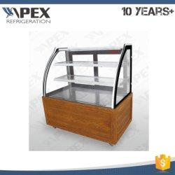 Gâteau vitrine de présentation commerciale de l'armoire avec Embraco compresseur