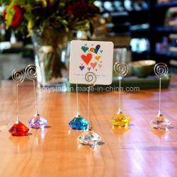 수정같은 장소 카드 홀더 다이아몬드 테이블 Confetti 당 결혼식 테이블 Decorati