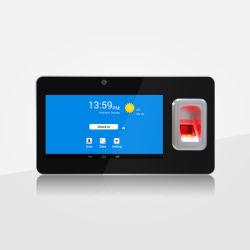 شاشة لمس قياس 7 بوصات وقت الحضور ببصمة الإصبع المحمولة مع GPS GPRS وWiFi وBluetooth