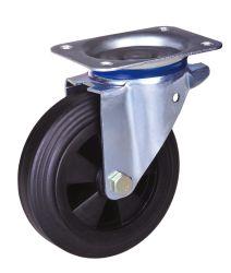 Rueda giratoria de ruedas de goma maciza con o sin bloqueo
