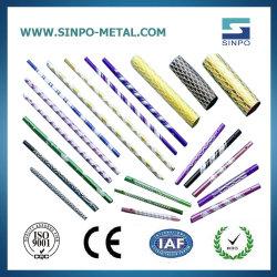 Liga de alumínio anodizado varas de pesca do tubo de esqui tenda/Camp Tubo com alta resistência à tracção e perfil de Extrusão
