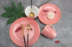 Populaire avec la vaisselle en céramique de conception La conception personnalisée de la Porcelaine Dîner