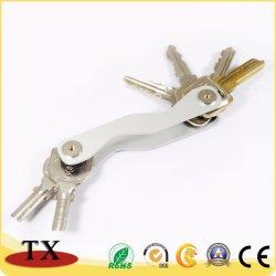 Chaveiro compacto de metal de alumínio Organizador Chave Porta-chaves