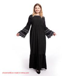 Vestito lungo casuale dalle donne bello più gli abiti di sera della signora Fashion Dress di Longsleeve Abya di Kaftan di formato