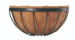 ココヤシはさみ金(Xy00940/Xy00950/Xy00960)が付いている半分の円形鉄ワイヤー花の壁のバスケット
