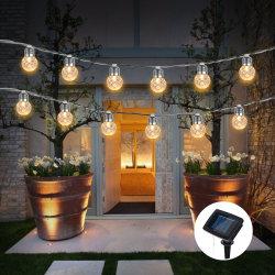 6m 20 LED das luzes de bola de ananás String da luz solar