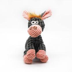 Фаршированные Pet игрушка разговор Corn-Corduroy хлопка веревки осла Интерактивная игрушка