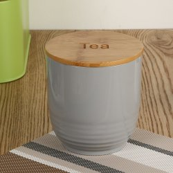 Vaso di memoria del biscotto del tè del caffè del sale dello zucchero pastoso di PS con il coperchio di bambù, contenitore di memoria asciutto di bambù dell'alimento