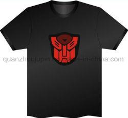 La conception personnalisée de la musique à activation vocale EL T-Shirt clignotant