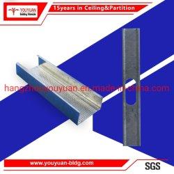 مجلفنة معدنية ملف تعريف Gipsum ضوء الصلب Keel الجدار الجافة الزر وحائط الإطار