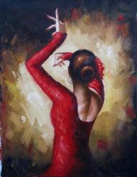 Ölgemälde der handgemachte Wiedergabe-Fabian Perez-Tanzen-Dame-Canvas