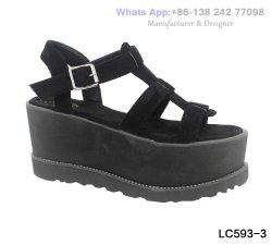 Womens Flat Fashion Flatform Lady confortables chaussures sandales de plate-forme de filtre en coin