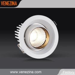 Alta potência LED sabugo com Black Anti ofusca o brilho Foco encastrado luz para baixo