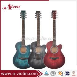 """40 """"多彩な新製品木の斜めに裁った学生のアコースティックギター(AF-H00LC)"""
