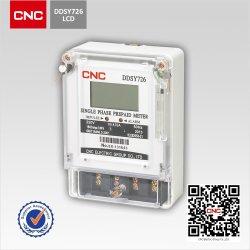 CNC Ddsy726 싱글 전자 선불 에너지 미터