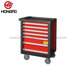 Le stockage de métaux lourds 7 Tiroir Armoire à outils à galet en acier dans le garage