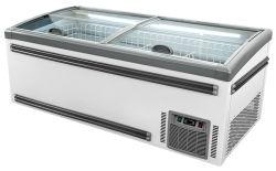 スーパーマーケットのレストランのためのスライドガラスのふたの箱のフリーザーの表示冷却装置