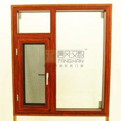 Détail de l'aluminium de traitement de l'ouverture de fenêtre à battant pour mieux vivre l'environnement