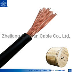 PVC絶縁体の単心の銅線35mmの50mm極度の適用範囲が広い溶接機ケーブル