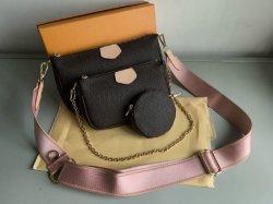 Les nouvelles femmes Sacs à main en cuir véritable favori Fashion Multi Pochette Accessoires Sacs à main fleur mini-pochette 3PCS Crossbody Sac Sacs épaule