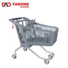 Utiliser tous les portables du marché de magasinage en plastique Chariot pliable