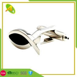 Decklack-silbernes Gold überzogener Hemd-Metallmanschettenknopf mit Geschenk-Kasten (039)