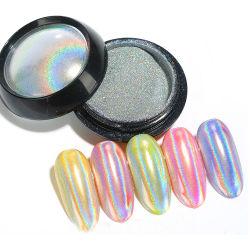 Polvere al neon del pigmento di scintillio di arte del chiodo del laser del Rainbow olografico per il polacco di chiodo