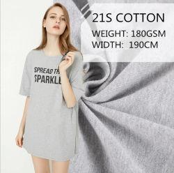 100% algodão penteado Single Jersey tecido tricô para T-shirt/Undershirt/Vest