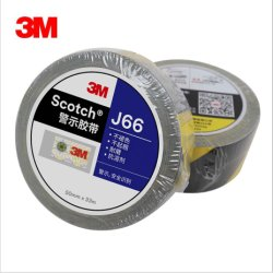 Commerce de gros 3M J66 Noir et jaune du ruban adhésif de bande d'avertissement