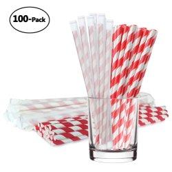 Chaque papier enroulé de pailles de papier biodégradable DOT Coeur Mix