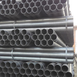 Tubo rotondo in acciaio al carbonio dolce in acciaio nero saldato ERW dritto