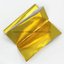 El calor de fibra de vidrio aluminio lámina de oro Heatshield reflectante autoadhesivo