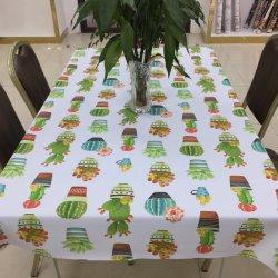 À prova de antiderrapagem impresso Personalizado Flower PVC pano de mesa