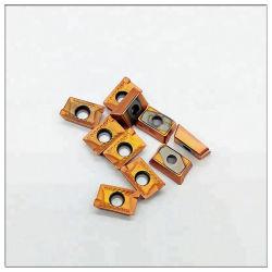 PVD покрытием фрезерования вставьте Apkt1003 для резки стали и нержавеющей стали