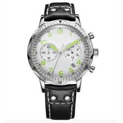 O indicador de grandes homens de negócio tira de couro PU Relógios de pulso Wholesales Fabricante Original
